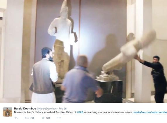 immagine tratta da un video pubblicato su Twitter il 26 febbraio 2015
