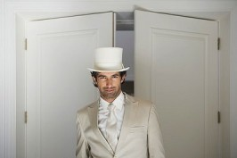Bridegroom wearing top hat