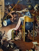 Detail of Hell from The Garden of Earthly Delights by Hieronymus Bosch
