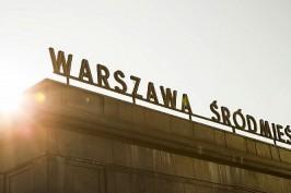 Train station exterior, Warsaw, Poland