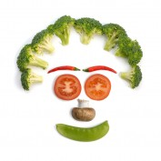 Face made of vegetables. Image shot 2008. Exact date unknown.