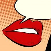 Beautiful red lips girl