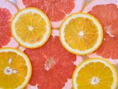 Orange and grapefruit rings background