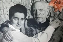 PORTRAIT PICASSO HIS WIFE JACQUELINE VILLA SANTO SOSPIR ENTIRELY DECORATED JEAN COCTEAU SAINT-JEAN-CAP-FERRAT ALPES-MARITIMES