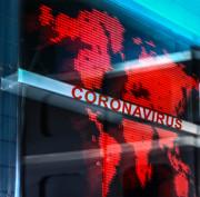 Coronavirus pandemic over globe