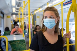 Wearing a Face Mask on the Tram